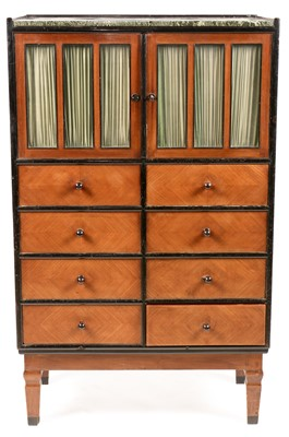 Lot 897 - Vereinigte Werkstätten - early 20th Century marble-topped mahogany cabinet