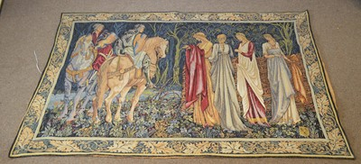 Lot 505 - Wall tapestry of a Renaissance scene