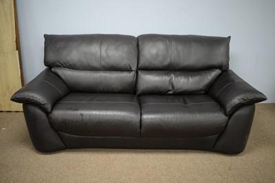 Lot 46 - Italian Homes leather sofa.
