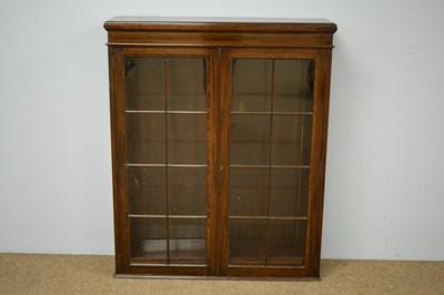 Lot 87 - 19th C mahogany and banded bookcase.