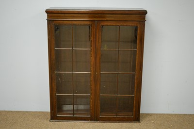 Lot 23 - 19th C mahogany and banded bookcase.