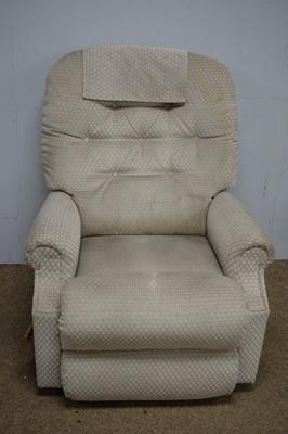 Lot 50 - Modern button-back reclining armchair.
