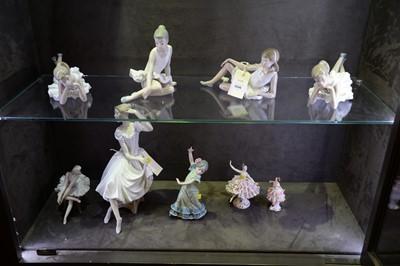 Lot 506 - Female dancer porcelain figurines