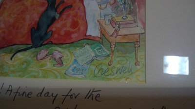 Lot 822 - Mark Huskinson and Creswell - prints.