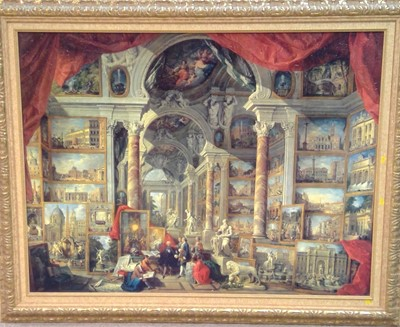 Lot 841 - After Giovanni Paolo Panini - Textured print