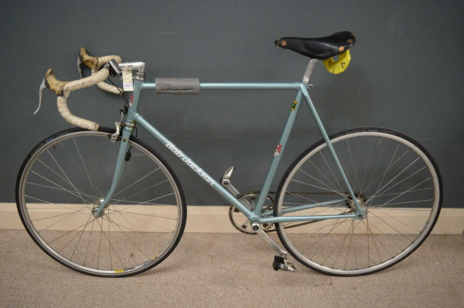 Lot 705 - A single-speed bicycle by Bob Jackson.