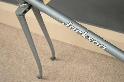 Lot 717 - A lugged-steel road racing bicycle frame.