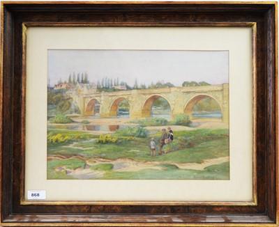 Lot 868 - Robert Bertram - watercolour