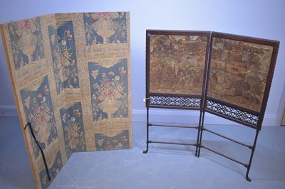 Lot 507 - Two two-fold screens.