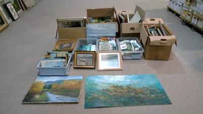 Lot 93 - James Carlisle - Studio collection of paintings, etc.