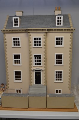 Lot 434 - Large hand-made doll's house.