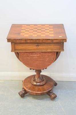 Lot 177 - 19th Century walnut games table