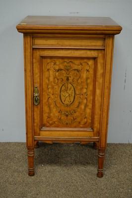 Lot 92 - Edwardian bedside cabinet.