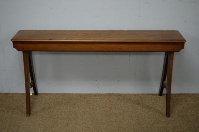 Lot 97 - Late 19th C mahogany bench.