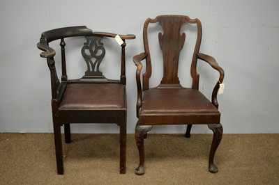 Lot 94 - Corner chair; and elbow chair.