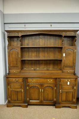 Lot 221 - Modern oak dresser.