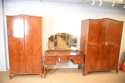 Lot 153 - Beithcraft Ltd: Modern mahogany three-piece bedroom suite.