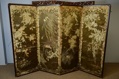 Lot 130 - Japanese screen and another