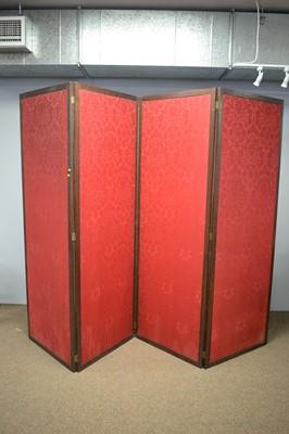 Lot 41 - 20th Century mahogany framed dressing screen
