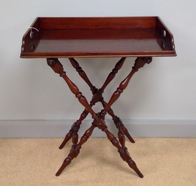 Lot 445 - Mahogany butler's tray on stand