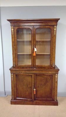 Lot 444 - 19th Century walnut bookcase