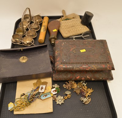 Lot 308 - Plate toddy stand and other items