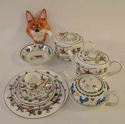 Lot 338 - Wedgwood Hunting and other ceramics