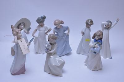 Lot 168 - Eight assorted Nao figurines.