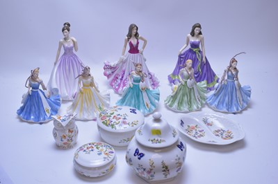 Lot 169 - Assorted figurines; and Cottage Garden items.