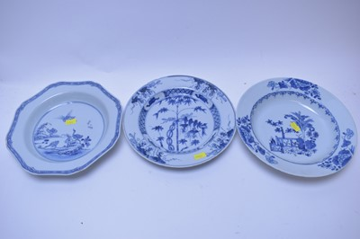 Lot 187 - Chinese Export plate and bowls.