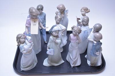 Lot 212 - Ten assorted Nao figurines.