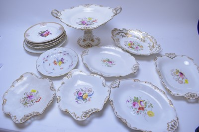 Lot 222 - Meissen, Spode and other plates; and Victorian part dessert service.