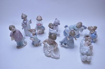 Lot 233 - Ten Nao figurines.
