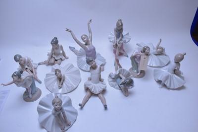 Lot 234 - Twelve Nao ballerina figurines.