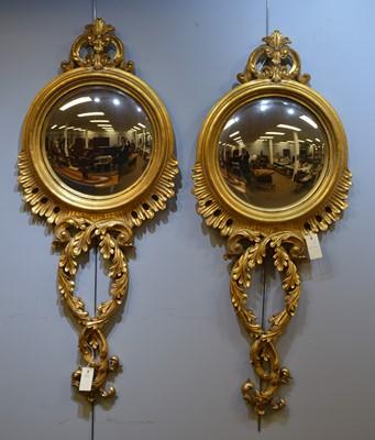 Lot 563a - A pair of modern convex mirrors.