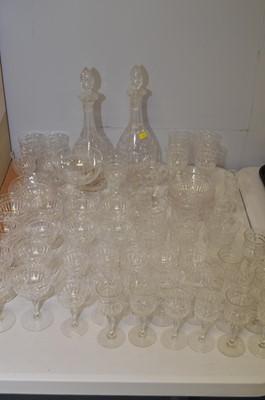 Lot 433 - Cut glassware by Stuart.
