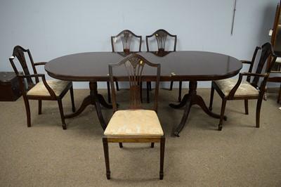 Lot 22 - Georgian style mahogany dining room suite.