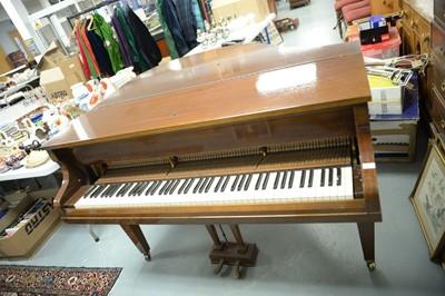 Lot 201 - Challen, London baby grand piano.