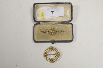 Lot 7 - Two Edwardian brooches.