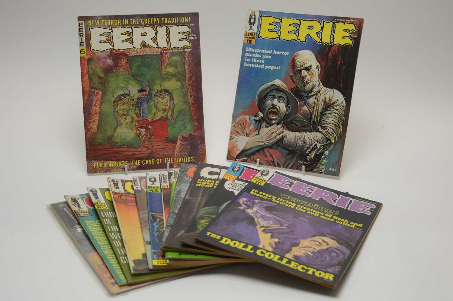 Lot 1 - Eerie, Creepy and Psycho magazines.