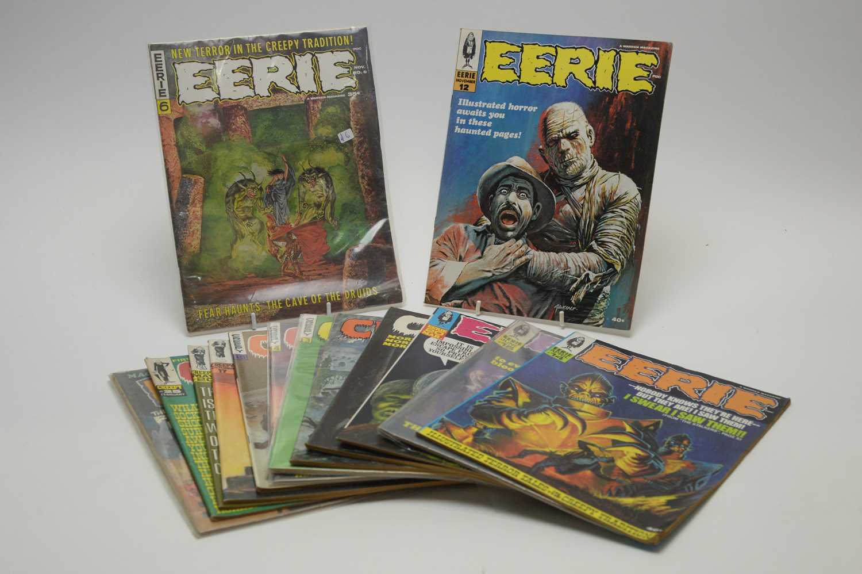 Lot 2 - Eerie, Creepy and Psycho magazines.