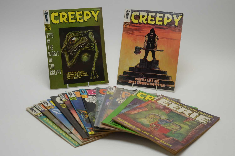 Lot 4 - Eerie, Creepy and Psycho magazines.