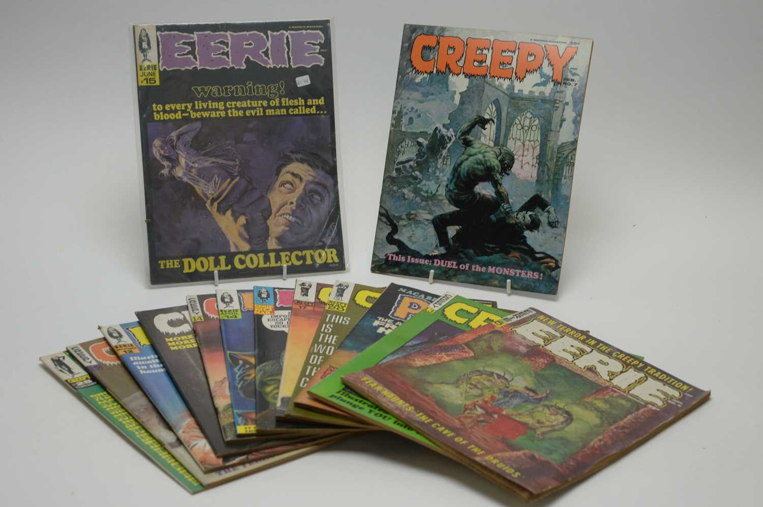 Lot 5 - Eerie, Creepy and Psycho magazines.