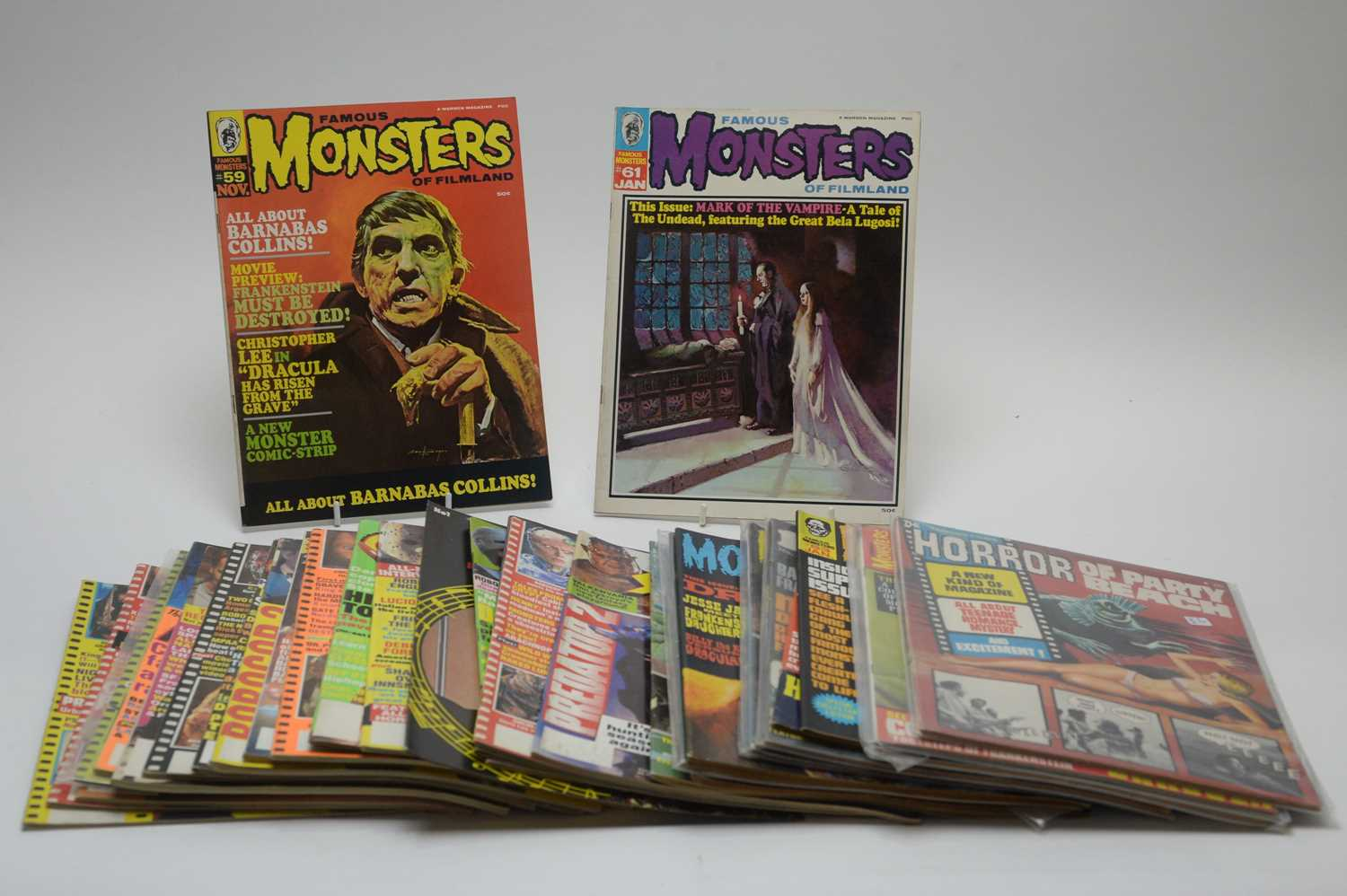 Lot 8 - Thirty-one Monster, Horror, Sci-Fi, Pop and other magazines.
