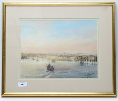 Lot 48 - Walter Holmes - pastel.