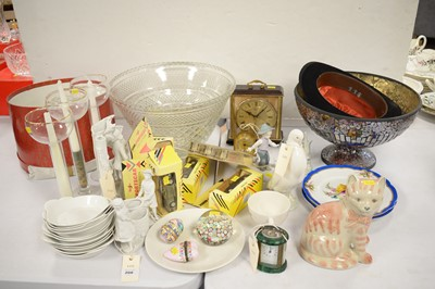 Lot 208 - Household items, including clocks.