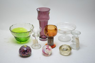 Lot 213 - Studio and other glassware.