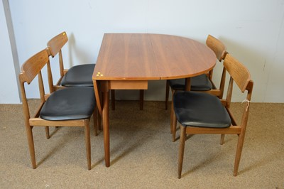 Lot 32 - G-Plan dining table and four chairs.