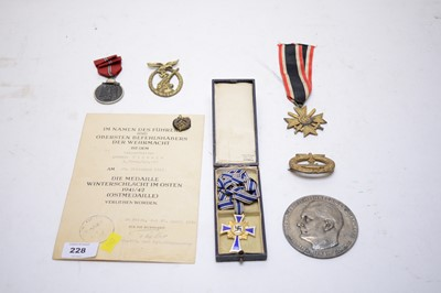 Lot 228 - German medals, badges and plaques.