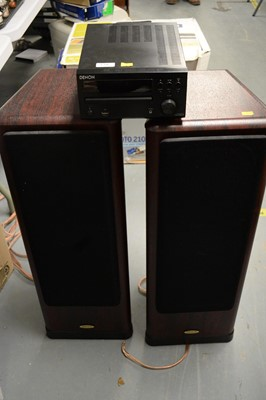 Lot 270 - Denon CD receiver; and a pair of Tannoy speakers.